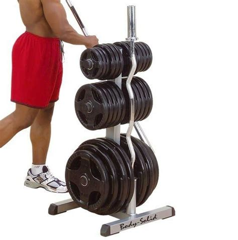 body solid olympic plate tree bar holder weight rack gowt ebay