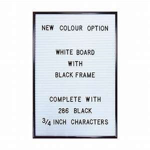white letter board in black frame With black and white letter board