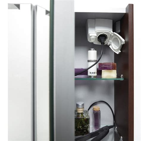 armoire salle de bain prise
