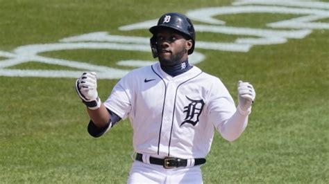 Tigers' Akil Baddoo homers on first pitch of first MLB at ...