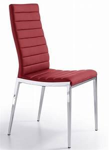 Chaise Rouge Design : chaise design matelass e rouge dona lot de 2 ~ Teatrodelosmanantiales.com Idées de Décoration