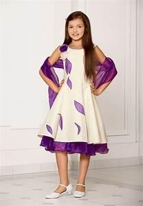 robe enfant de ceremonie ivoire et violet christella paris With robe ceremonie pour enfant