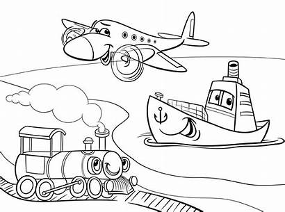 Coloring Pages Transport Water Sun Kitchenware