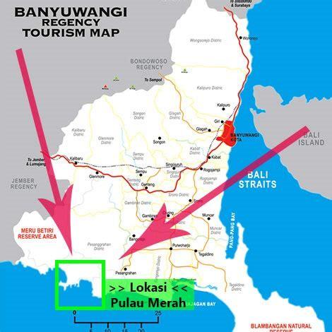 java island red island beach  banyuwangi indonesia