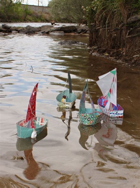 How To Make A Paper Boat Float Longer by Floating Paper Sailboats Pazzles Craft Room
