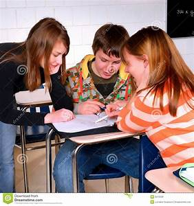 Students Working Together stock photo. Image of think ...