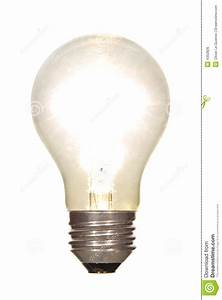 Lit Electric Light Bulb Glowing Bright Isolated Royalty