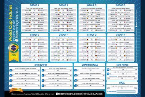 brazil world cup  wall chart  sweep