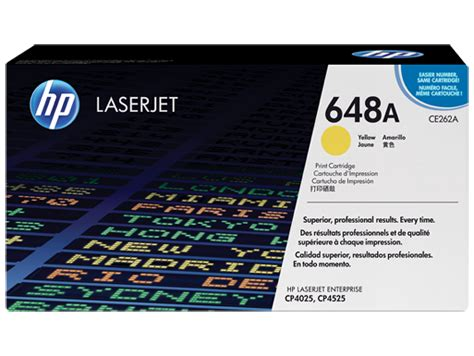 HP 648A Yellow Original LaserJet Toner Cartridge (CE262A