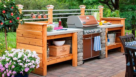 cheap kitchen islands with seating 10 outdoor kitchen plans turn your backyard into