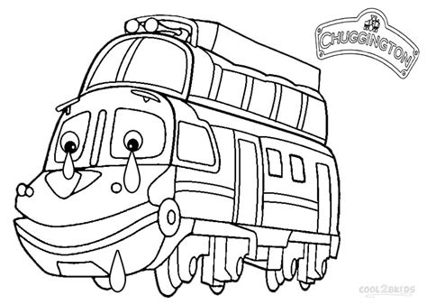 Chuggington Train Colouring Pages