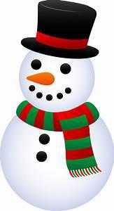 Cute Christmas Snowman - Free Clip Art