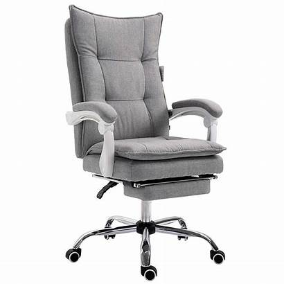 Chair Executive Desk Office Grey Fabric Ergonomic