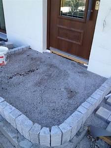 Haustür Treppe Selber Bauen : gepflasterter hauseingang stufe aus granitpalisaden ~ Watch28wear.com Haus und Dekorationen
