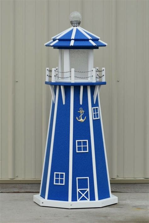 octagon electric  solar powered poly wood lighthouse