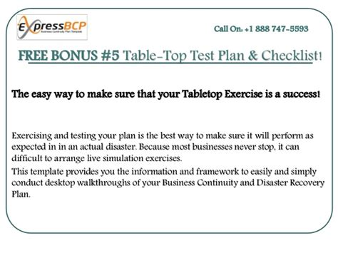tabletop exercise template survival kits