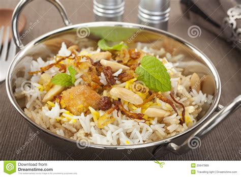 biryani indian cuisine chicken biryani indian curry food cuisine royalty free