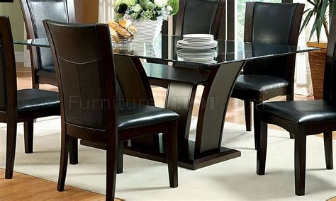 cm3710t manhattan i dining table w optional black chairs