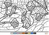 Coloring Number Winter Scene Pages Worksheets Printable Supercoloring Landscape Crafts Categories sketch template