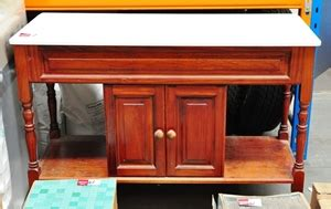 antique style bathroom vanity unit walnut colour timber