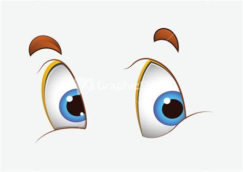 Happy Cartoon Eyes Stock Image