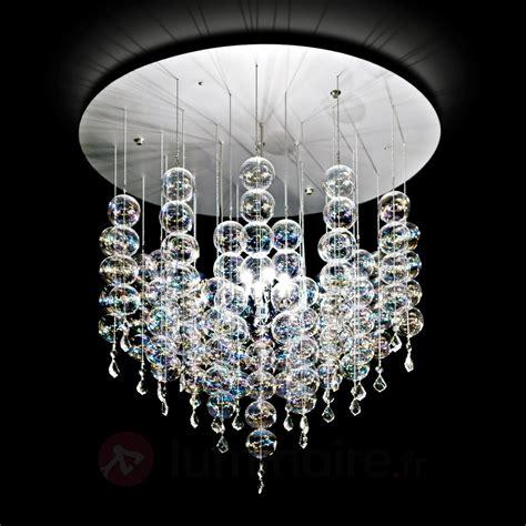 cuisine design surface suspension soap dotée de boules en verre luminaire fr