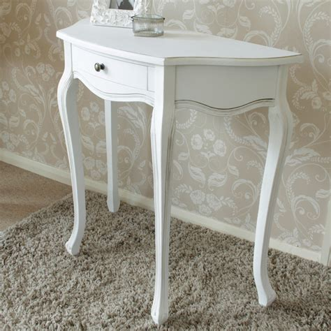 shabby chic half moon table white wooden half moon table shabby french chic country living room hallway