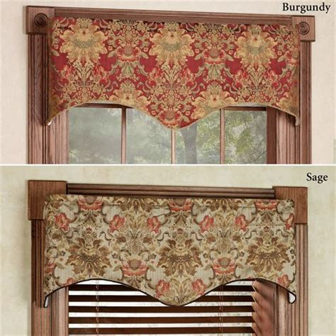 Fabric Valance by Como Tapestry Fabric Scalloped Window Valance
