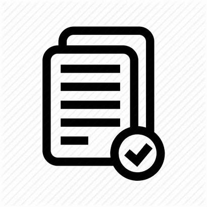 Icon Documents Check Validation Complete Completed Mark