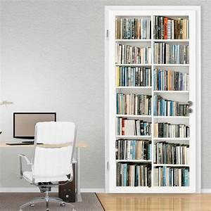 Bücherregale Mit Türen : b cherregal t r wandsticker ~ Markanthonyermac.com Haus und Dekorationen