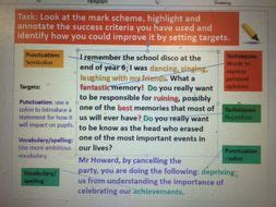 aqa english language paper  question  teaching resources