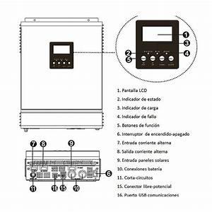 Wccsolar Pure Wave Inverter Hybrid 3000w 24v 50a  80a
