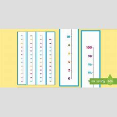 * New * Counting In 2s To 100 Vertical Number Line  Counting In