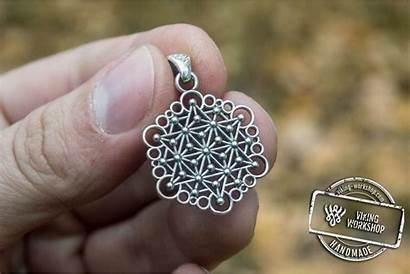 Handmade Silver Jewelry Unique Sterling Pendant Geometry