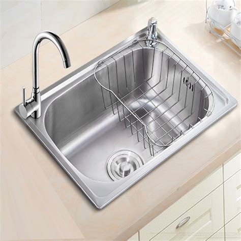 kitchen sink holes stainless steel drawing kitchen sink single bowl whit soap 2743