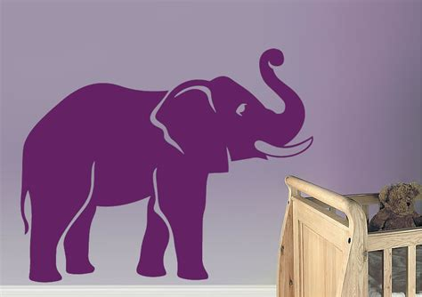 elephant trunk wild life wall stickers adhesive wall sticker