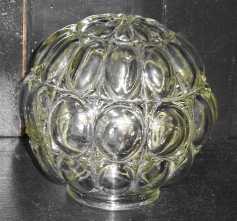 antique globe l shade clear vintage fancy bubble glass ball globe shade for by