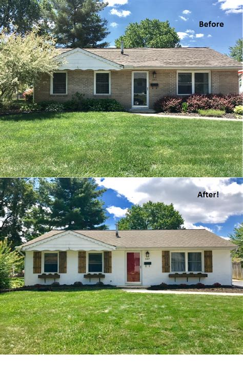 before and after pictures of our ranch home curb appeal