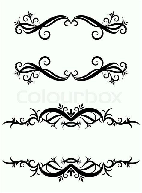 decorative floral crest stock vector colourbox