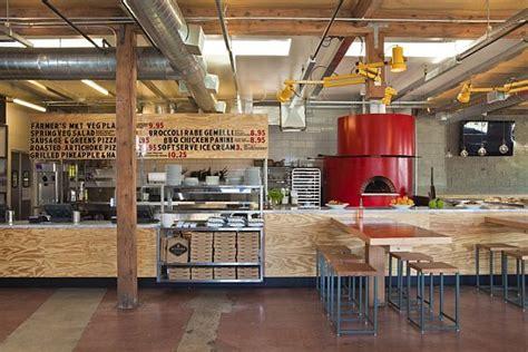 contemporary pitfire pizza interior restaurant  bestor architecture