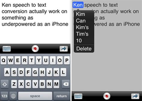 voice to text iphone iphone app transforms speech to text the register