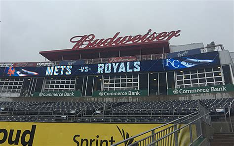 world series view of the budweiser patio at kauffman