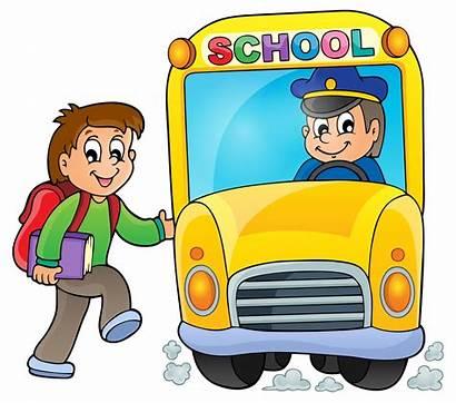Bus Cartoon Clipart Driver Clip