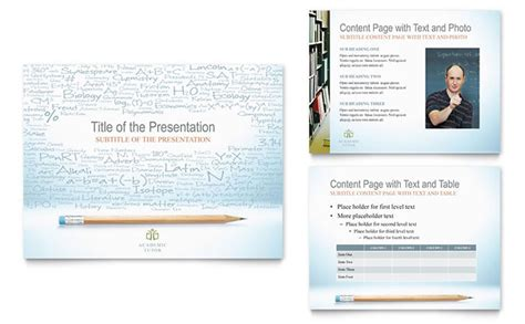 academic tutor school powerpoint  template