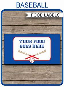 Ticket Printing Templates Baseball Party Food Labels Place Cards