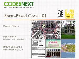 Form Based Code 101