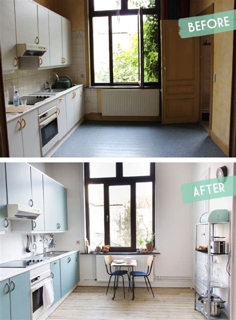 relooker cuisine kitchen makeover before after une cuisine avant