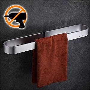 Kleber Für Aluminium : wangel handtuchstange handtuchhalter ohne bohren 40cm ~ A.2002-acura-tl-radio.info Haus und Dekorationen