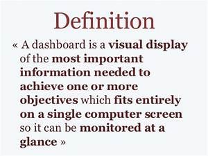 dashboard definition examples With what is the meaning of template