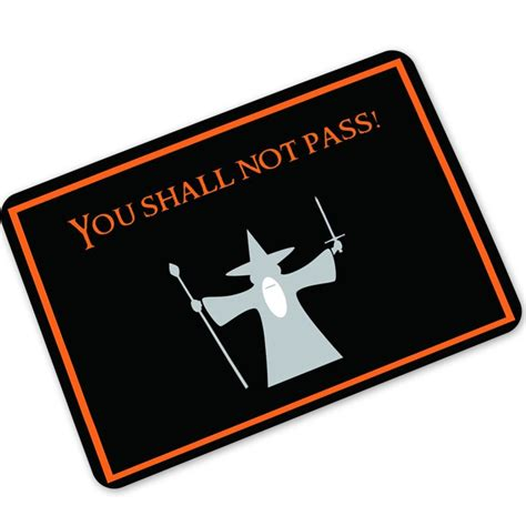 you shall not pass doormat mdct magic you shall not pass printed welcome door